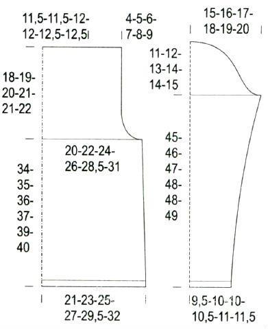 Схема вязания свободный джемпер с разрезами по бокам раздел вязание спицами для женщин кофты спицами женские