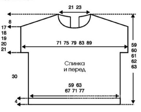 Схема вязания свободный сетчатый топ с коротким рукавом раздел вязание спицами для женщин кофты спицами женские