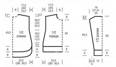 Схема вязания свободный свитер с удлиненной спинкой раздел вязание спицами для женщин кофты спицами женские