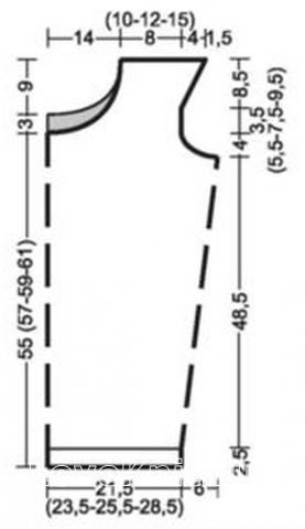 Схема вязания свободный топ с пайетками раздел вязание спицами для женщин кофты спицами женские