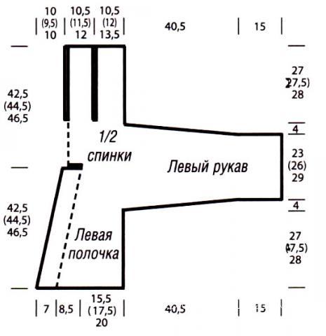 Схема вязания свободный укороченный жакет раздел вязание спицами для женщин кофты спицами женские