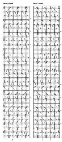 Схема вязания свободный жакет с цветным рисунком раздел вязание спицами для женщин кофты спицами женские