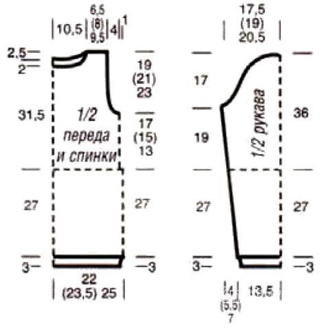 Схема вязания теплый джемпер с воротником гольф раздел вязание спицами для женщин кофты спицами женские