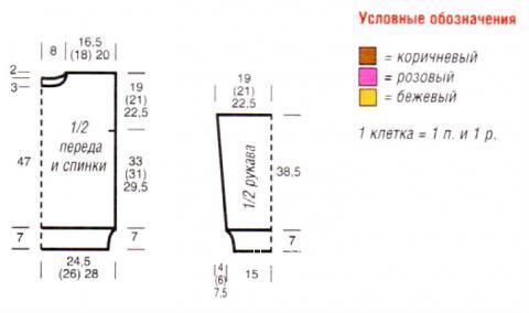 Схема вязания теплый свитер с графическим рисунком  раздел вязание спицами для женщин кофты спицами женские