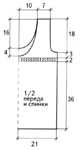 Схема вязания топ с ажурной полосой раздел вязание спицами для женщин кофты спицами женские