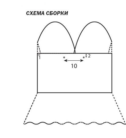 Схема вязания топ с глубоким вырезом и открытой спиной раздел вязание спицами для женщин кофты спицами женские