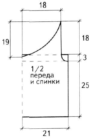 Схема вязания топ с круглым вырезом и бахромой раздел вязание спицами для женщин кофты спицами женские