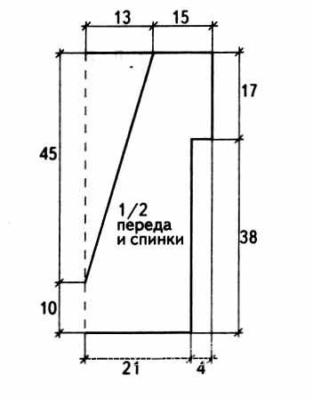 Схема вязания топ с открытой спиной раздел вязание спицами для женщин кофты спицами женские