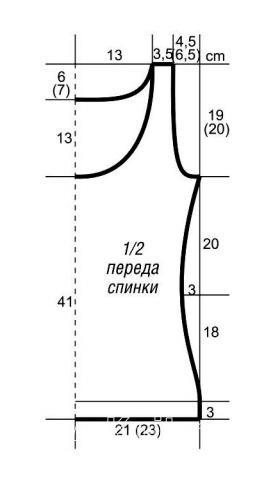Схема вязания топ из пряжи секционного крашения раздел вязание спицами для женщин кофты спицами женские