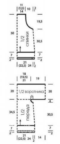 Схема вязания топ на пуговицах с сетчатой спиной раздел вязание спицами для женщин кофты спицами женские
