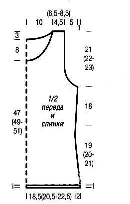 Схема вязания топ с узором из спущенных петель раздел вязание спицами для женщин кофты спицами женские