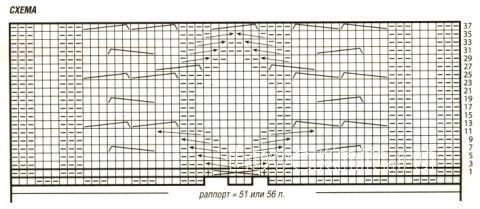 Схема вязания топ с воротником стойкой раздел вязание спицами для женщин кофты спицами женские
