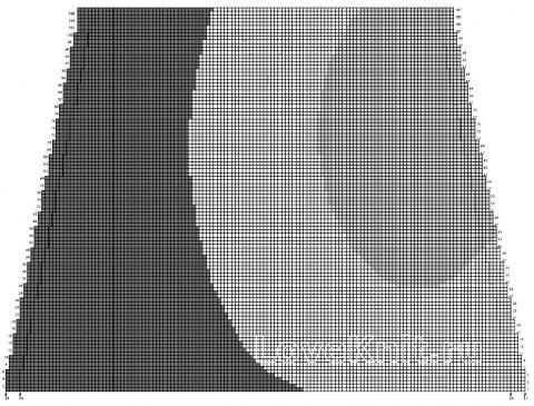 Схема вязания трехцветный джемпер с глубоким v-образным вырезом раздел вязание спицами для женщин кофты спицами женские