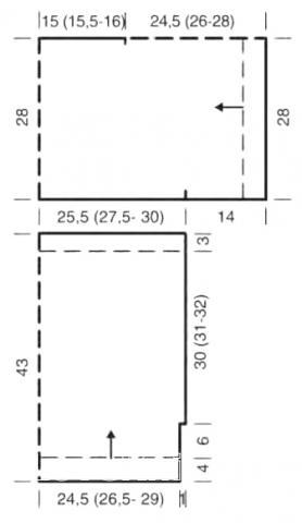 Схема вязания туника крупной вязки со структурным узором раздел вязание спицами для женщин кофты спицами женские