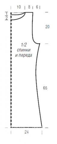Схема вязания туника без рукавов с ажурным узором раздел вязание спицами для женщин кофты спицами женские