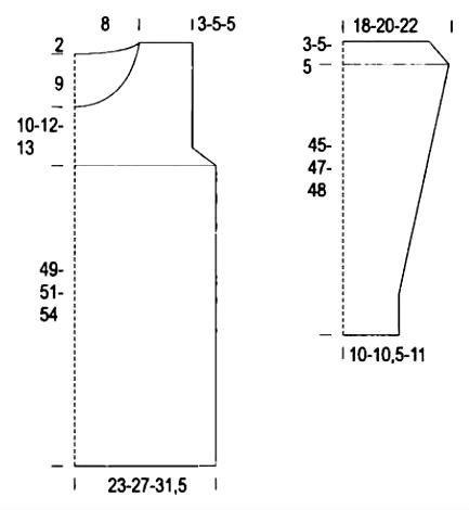 Схема вязания удлиненный ажурный джемпер с круглым вырезом раздел вязание спицами для женщин кофты спицами женские