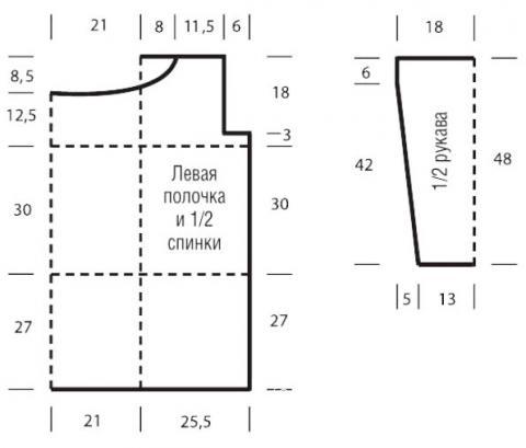 Схема вязания удлиненный ажурный жакет из трех цветов раздел вязание спицами для женщин кофты спицами женские