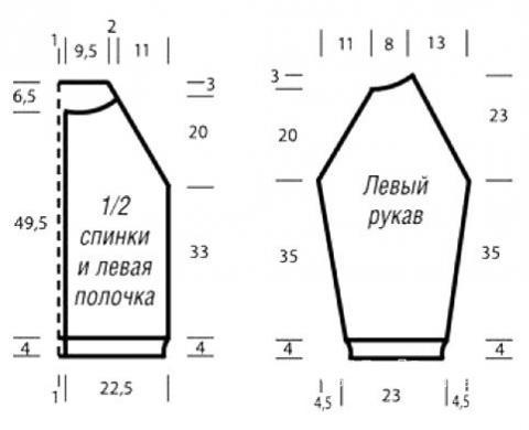 Схема вязания удлиненный кардиган с ажурными ромбами раздел вязание спицами для женщин кофты спицами женские