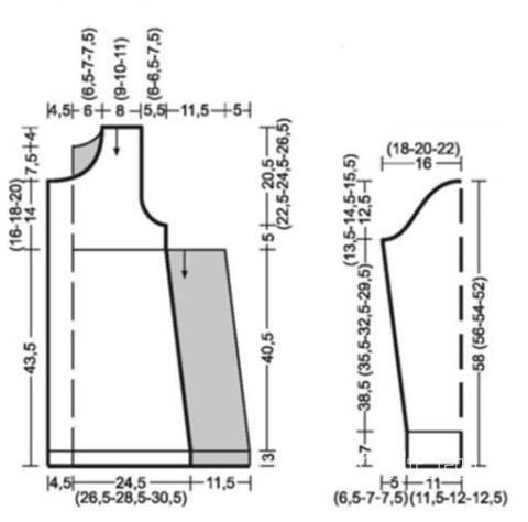 Схема вязания удлиненный кардиган с бантом раздел вязание спицами для женщин кофты спицами женские