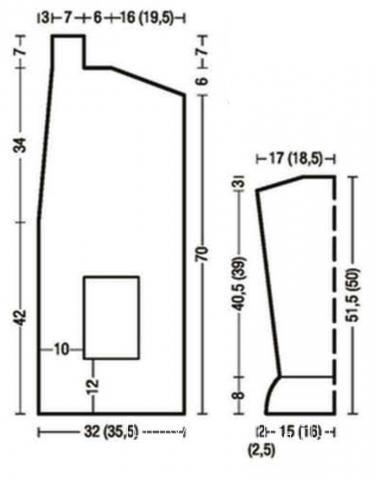 Схема вязания удлиненный кардиган и большой шарф с карманами раздел вязание спицами для женщин кофты спицами женские