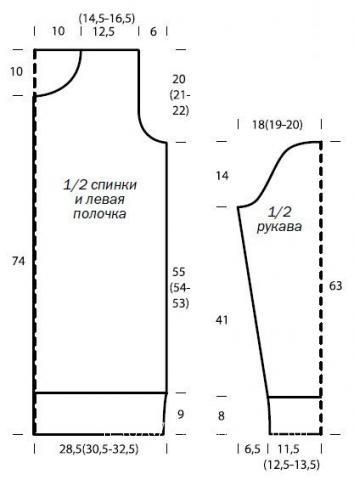 Схема вязания удлиненный кардиган с крупным рельефным узором раздел вязание спицами для женщин кофты спицами женские