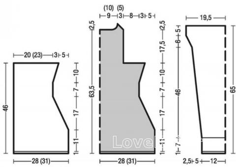 Схема вязания удлиненный кардиган на пуговицах раздел вязание спицами для женщин кофты спицами женские