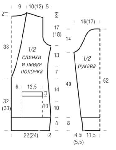 Схема вязания удлиненный кардиган с узором из кос раздел вязание спицами для женщин кофты спицами женские