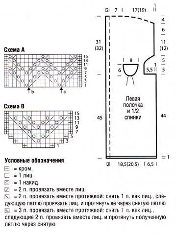 Схема вязания удлиненный оранжевый жакет раздел вязание спицами для женщин кофты спицами женские