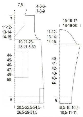 Схема вязания удлиненный пуловер с карманами и капюшоном раздел вязание спицами для женщин кофты спицами женские