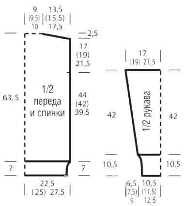 Схема вязания удлиненный рельефный джемпер с воротником гольф раздел вязание спицами для женщин кофты спицами женские
