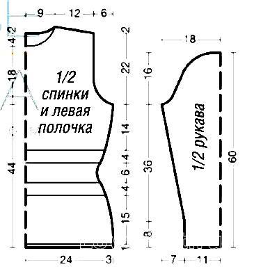 Схема вязания удлиненный свитер в черно-белой гамме раздел вязание спицами для женщин кофты спицами женские