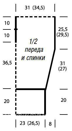 Схема вязания удлиненный свободный топ раздел вязание спицами для женщин кофты спицами женские