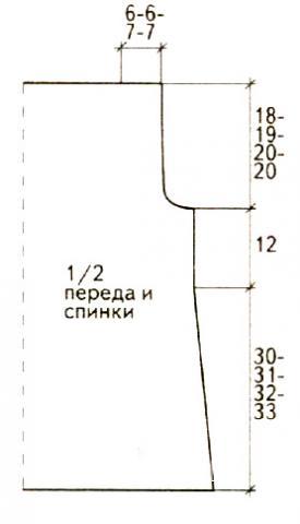 Схема вязания удлиненный топ с ромбами раздел вязание спицами для женщин кофты спицами женские