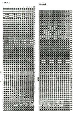 Схема вязания удлиненный топ с жаккардовым узором раздел вязание спицами для женщин кофты спицами женские