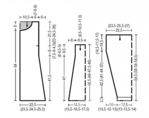 Схема вязания удлиненный жакет а-силуэта с узором из ромбов раздел вязание спицами для женщин кофты спицами женские