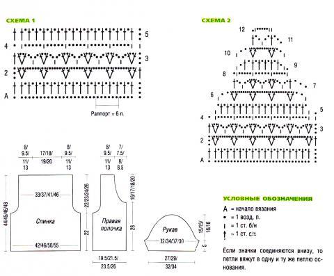 Схема вязания укороченный ажурный жакет раздел вязание спицами для женщин кофты спицами женские