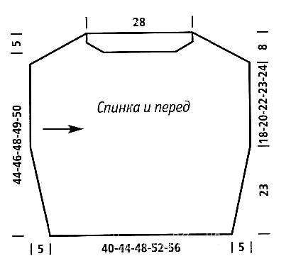 Схема вязания укороченный джемпер с коротким рукавом раздел вязание спицами для женщин кофты спицами женские