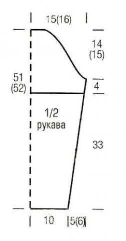 Схема вязания укороченный пуловер в полоску раздел вязание спицами для женщин кофты спицами женские