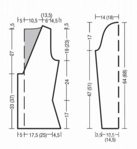 Схема вязания узорчатый джемпер со сборкой спереди раздел вязание спицами для женщин кофты спицами женские