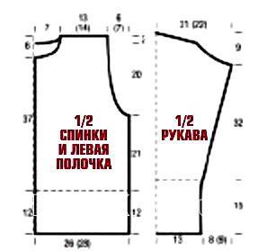 русские, схема кофты спицами реглан на молнии снегоуборщиков
