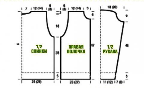 Схема вязания зеленый жакет на пуговицах раздел вязание спицами для женщин кофты спицами женские