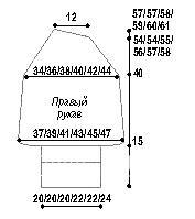 Схема вязания жакет с графическим узором на пуговицах раздел вязание спицами для женщин кофты спицами женские