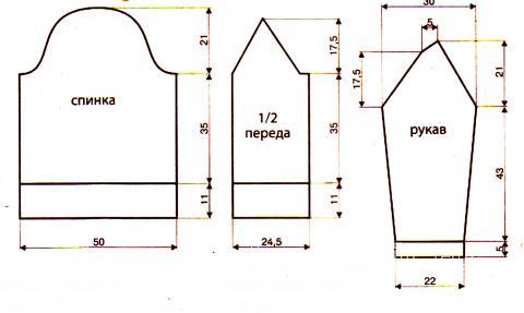 Схема вязания жакет с поясом на пуговицах раздел вязание спицами для женщин кофты спицами женские