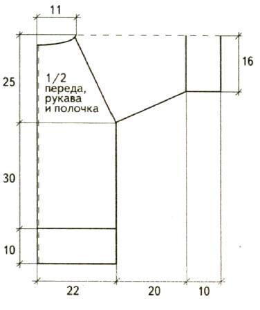 Схема вязания жакет на пуговицах с рукавом реглан раздел вязание спицами для женщин кофты спицами женские
