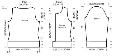 Схема вязания жакет на пуговицах в классическом стиле раздел вязание спицами для женщин кофты спицами женские