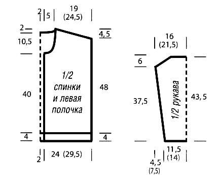 Схема вязания жакет с рельефным узором на пуговицах раздел вязание спицами для женщин кофты спицами женские