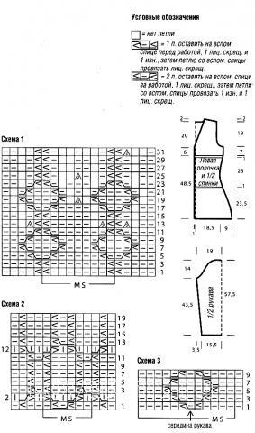 Схема вязания жакет с ромбами раздел вязание спицами для женщин кофты спицами женские