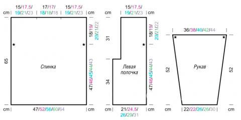 Схема вязания жакет со структурным узором раздел вязание спицами для женщин кофты спицами женские