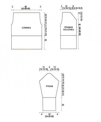 Схема вязания жакет с узором из кос раздел вязание спицами для женщин кофты спицами женские