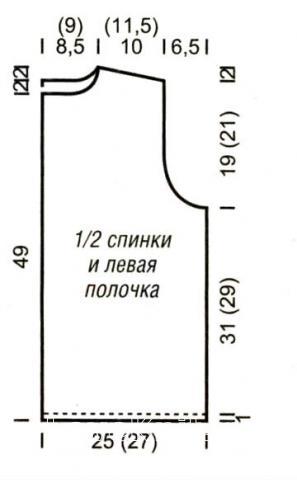 Схема вязания жакет с узором на молнии раздел вязание спицами для женщин кофты спицами женские